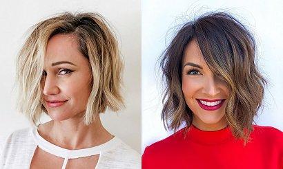 Włosy w pół szyi - 17 fryzjerskich trendów