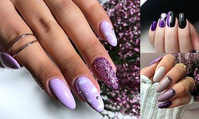 Fioletowy manicure - galeria cudownych zdobień