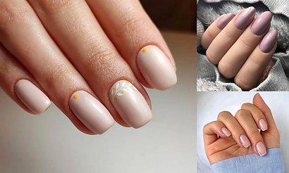 Nude manicure - galeria jesiennych stylizacji