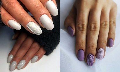Sweterkowy manicure - kilkanaście stylowych zdobień na sezon jesień/zima