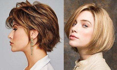 Fryzury o długościach za ucho - galeria modnych cięć