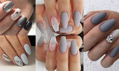 Szary manicure na jesień - top 16 rewelacyjnych zdobień