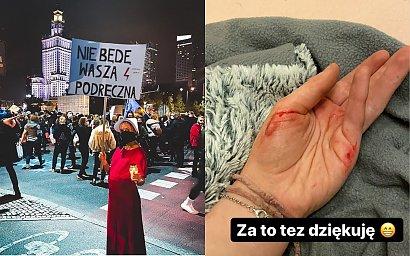 """Julia Wróblewska relacjonuje wczorajszy strajk: """"Zostałam popchnięta, uderzona, dostałam w ramiona, biodra i nerki"""""""