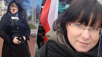 Godek złożyła zawiadomienie na policji. Pokazała, co strajkujący zrobili przed jej domem
