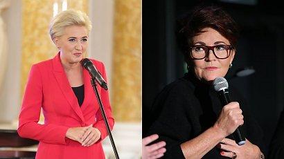 Polki żądają, by Agata Duda zabrała głos. Wciąż milczy, ale odezwała się Jolanta Kwaśniewska