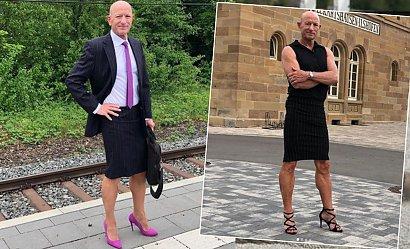 Żonaty ojciec trójki dzieci nosi spódnice i szpilki, bo jego zdaniem ubrania nie mają płci