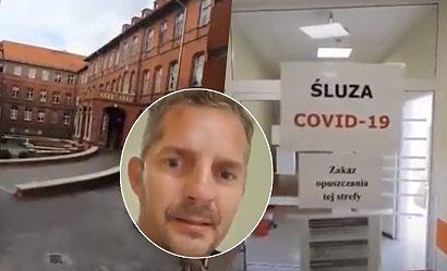 """Zakażony pacjent z Elbląga nagrywa ze szpitala: """"Nie wymyślajcie spisków. Tutaj się umiera"""""""