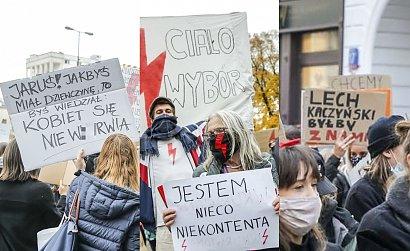Strajk Kobiet pod sejmem i nie tylko: Są nowe hasła! Coraz bardziej kreatywne!