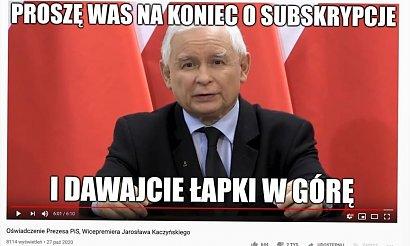 Jarosław Kaczyński wygłosił oświadczenie. Internauci stworzyli memy