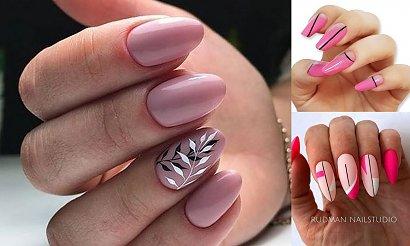 Różowy manicure – 16 pomysłów na modne zdobienia [GALERIA]