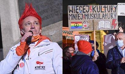 Michał Wiśniewski strajkuje w obronie kultury! Obok dzieci i... piąta żona!