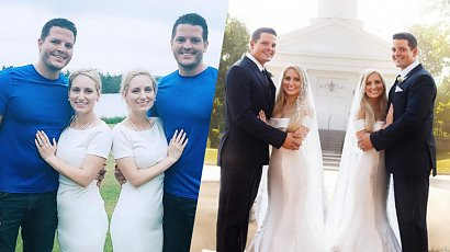 Niewiarygodna historia bliźniaczek, które poślubiły bliźniaków. Teraz obydwie siostry są w ciąży!