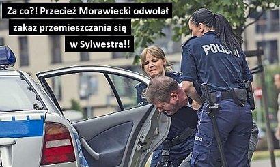 Polski rząd wprowadził, a później odwołał godzinę policyjną w Sylwestra! Internauci tworzą memy!