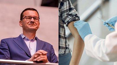 """Premier Morawiecki zachęca do szczepień: """"To jest patriotyczny obowiązek"""""""