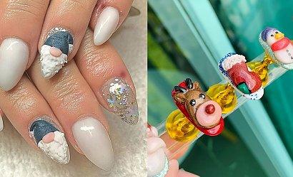 Świąteczny manicure 3D - 15 propozycji