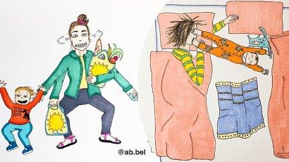Jak wygląda prawdziwe macierzyństwo? Te ilustracje rozbawią Cię do łez!
