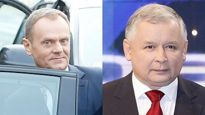 Donald Tusk krytykuje Jarosława Kaczyńskiego. Poszło o 80 radiowozów ochraniających jego dom