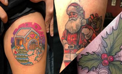10 tatuaży o tematyce świątecznej