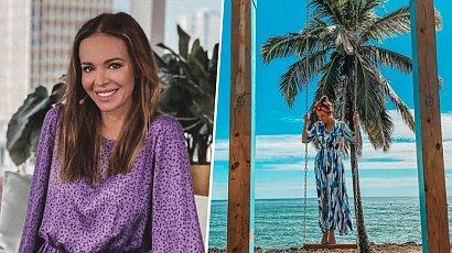 Ania Wendzikowska na białym rumaku! Prezenterka chwali się bajecznymi zdjęciami z wakacji