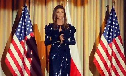Zrozpaczona Edyta Górniak śpiewa na tle amerykańskiej flagi! Żegna Donalda i Melanię Trump!