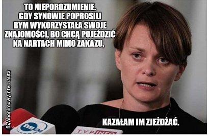 Jadwiga Emilewicz tłumaczy się z wyjazdu w góry z synami: Bycie mamą wygrało z byciem politykiem