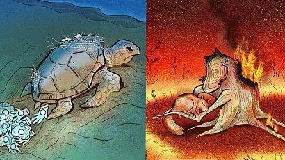 Jakie są ciemne strony współczesnego społeczeństwa? Te ilustracje mówią wszystko!