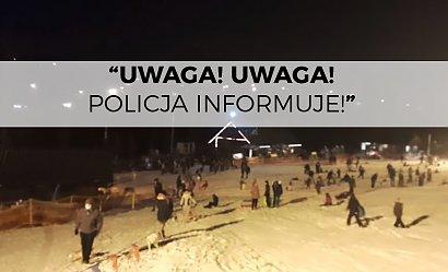 Policja na stoku przez megafon zwracała się do saneczkarzy, którzy oddawali się zabawie. Zero reakcji