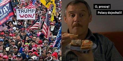 Zwolennicy Trumpa wdarli się do Kapitolu i wywołali zamieszki. Internauci komentują... memami