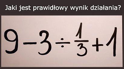Jaki jest prawidłowy wynik działania? Matematyczna zagadka zrobiła furorę w sieci! Znasz odpowiedź?