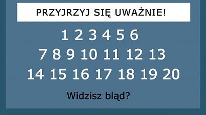 Dostrzegasz błąd? Banalna zagadka, której nie potrafi rozwiązać 79% ludzi!