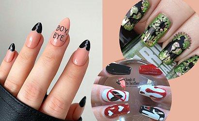 Mega pomysłowe antywalentynkowe zdobienia paznokci!