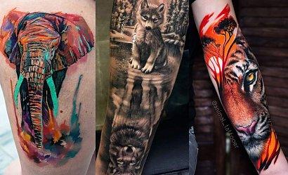 Niesamowite tatuaże ze zwierzęcym motywem
