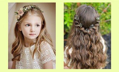 Komunijne fryzury dla dziewczynek z długimi włosami