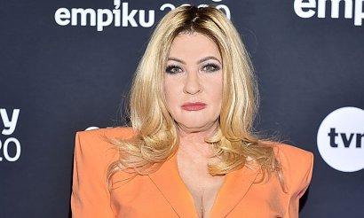 Pomarańczowa Beata Kozidrak na Gali Empiku! Ale jej spodnie to sztos!