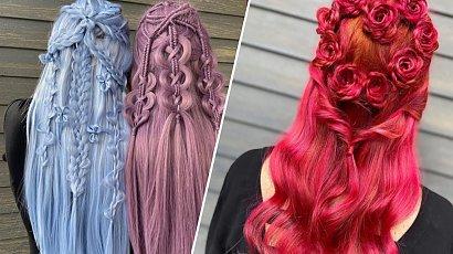Tworzy fantazyjne fryzury, które są dziełami sztuki. Każde uczesanie wygląda jak z bajki!