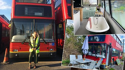 Kupili autobus, aby zamienić go w wymarzony dom. Wnętrze powala na kolana!