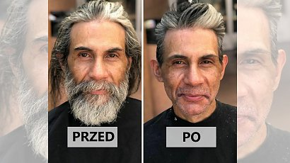Fryzjer od lat strzyże za darmo bezdomnych.  20 wzruszających przemian chwyta za serce