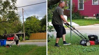 Po 28 latach od rozwodu mężczyzna regularnie kosi trawnik byłej żony. Dlaczego to robi?