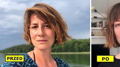 Maja Ostaszewska zaszalała z nową fryzurą. Aktorka zafundowała sobie grzywkę! Pasuje jej?