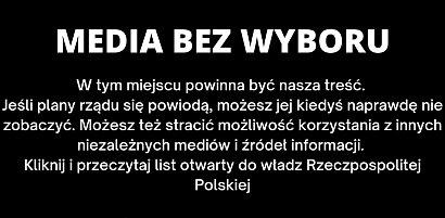 """Protest mediów z powodu podatku od reklam: Nie działają serwisy internetowe, telewizje oraz stacje radiowe. """"To haracz"""""""