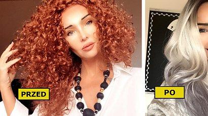 Ewa Minge przeszła radykalną metamorfozę! Przedłużyła włosy i zmieniła ich kolor na SIWY! Efekt WOW!