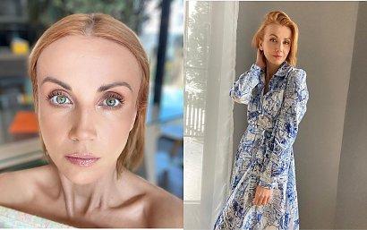 """Katarzyna Zielińska w MEGA długich, rudych włosach. Pasuje jej ta fryzura? """"Piękna i zjawiskowa"""" - piszą fani"""