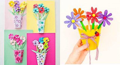 Laurka na Dzień Mamy - 20 pomysłów na kolorowe prace plastyczne dla dzieci