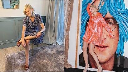 """Małgorzata Kożuchowska wskoczyła do łóżka w balowej sukni i pokazała sypialnię: """"fiu, fiu, ale luksusy. Po królewsku"""" - piszą fani"""