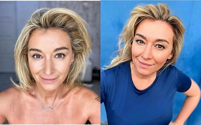 """Martyna Wojciechowska w makijażu zrobionym przez córkę: """"Zdolniacha, robi lepsze kreski niż ja"""" - podoba się Wam?"""