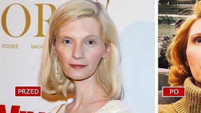 Agata Buzek już tak nie wygląda! Aktorka przefarbowała się na... RUDO! Do twarzy jej w takiej fryzurze?