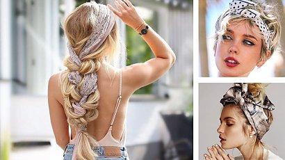 Jak nosić apaszkę we włosach? Zobacz wiosenne stylizacje