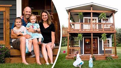 Wybudował dla córek niezwykły domek! Gdy zobaczysz jego wnętrze, zaniemówisz z wrażenia!