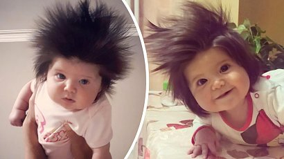 Przyszła na świat z wyjątkową fryzurą! Gabi Zaharinova ma już 2 lata i nazywana jest Roszpunką!