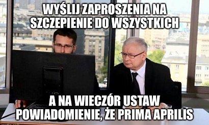 Wpadka ze szczepionkami dla 40-latków! Polski rząd zrobił najlepszy żart na Prima Aprilis! MEMY